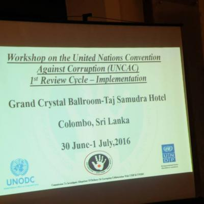 Workshop on the United Nations Convention Against Corruption (UNCAC) - 2016